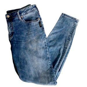 Silver Jeans Acid Wash Suki Skinny Fit Size 32